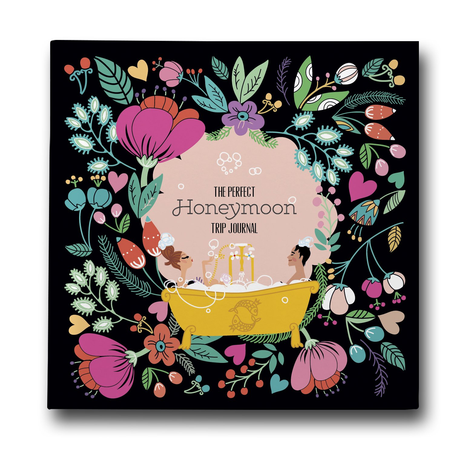 Honeymoon Get Away, A Travel Journal for Newlyweds. 1st Big Trip Together Memory Book to Save the Happy Adventures of the New Husband and Wife. Just Married Wedding Gift for Him and Her.