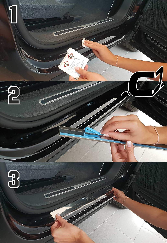 seuil de Porte Voiture Standard Compatible avec Jumpy 3 Coupe 2016- Chrom/é