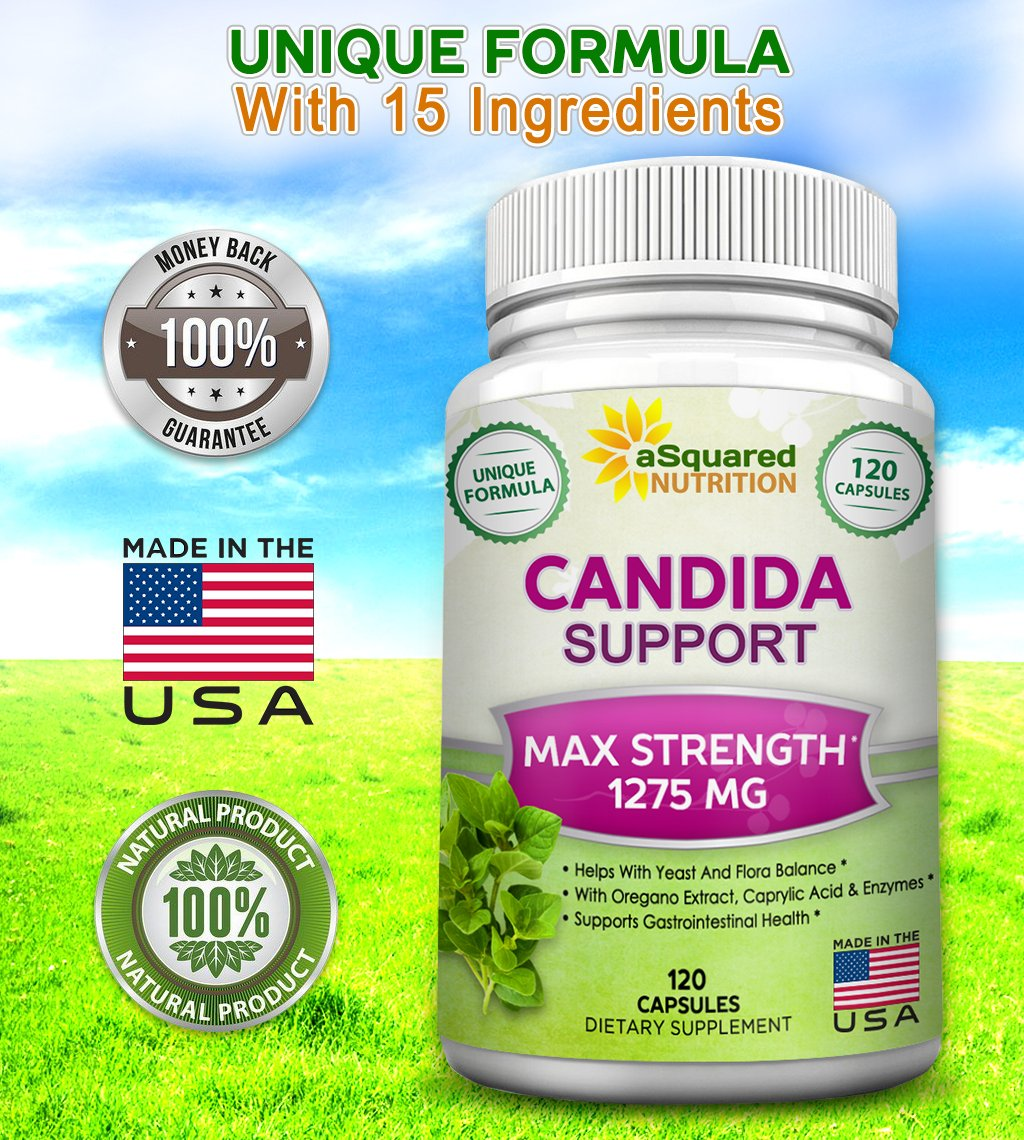 Candida probiotic herbal store buy - Amazon Com Pure Candida Cleanse Supplement 120 Capsules Natural Candida Support Detox Complex With Probiotics Herbs Antifungals Best Treatment