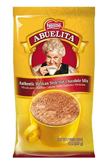 Nestle ABUELITA Authentic Mexican Instant Chocolate Pouch 2lbs, Bulk Cinnamon Hot Chocolate, Premium Hot