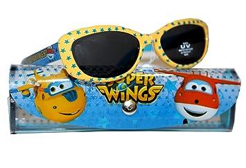 87550c489c Super Wings Gafas de Sol niño Funda de Almacenamiento - Oficial, Color Azul,  tamaño Talla única: Amazon.es: Deportes y aire libre
