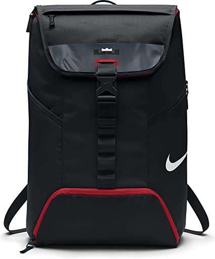 Nike Hommes Lebron Air Max Ambassador Sac à Dos NoirUniversité Taille Rouge Taille