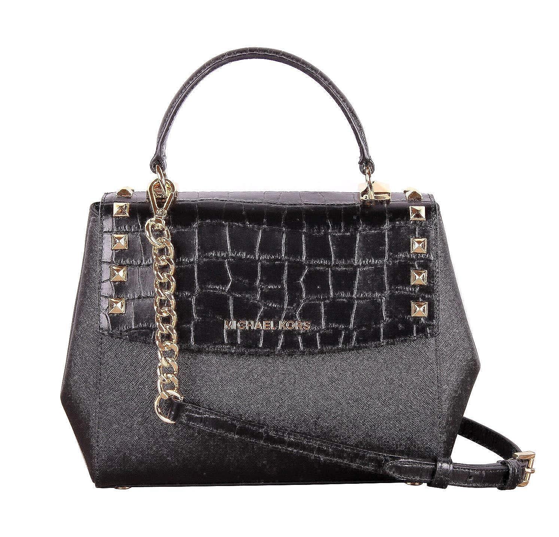 1bfb1a9ab4fc2 Amazon.com  Michael Kors Karla Top Handle Embossed Leather Satchel  Crossbody (Medium