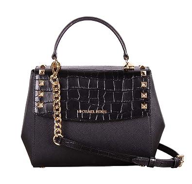 33f7f04cb3ee Amazon.com  Michael Kors Karla Top Handle Embossed Leather Satchel  Crossbody (Medium