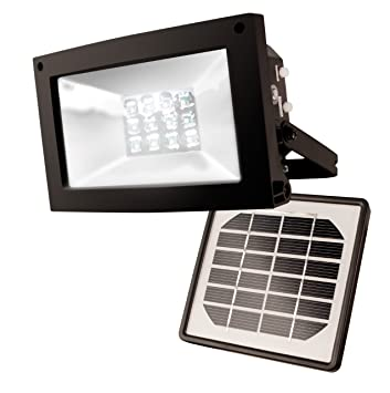 Maxsa Solar Powered 10 Hour Floodlight Uplight Signs Flags Statuary Outdoor