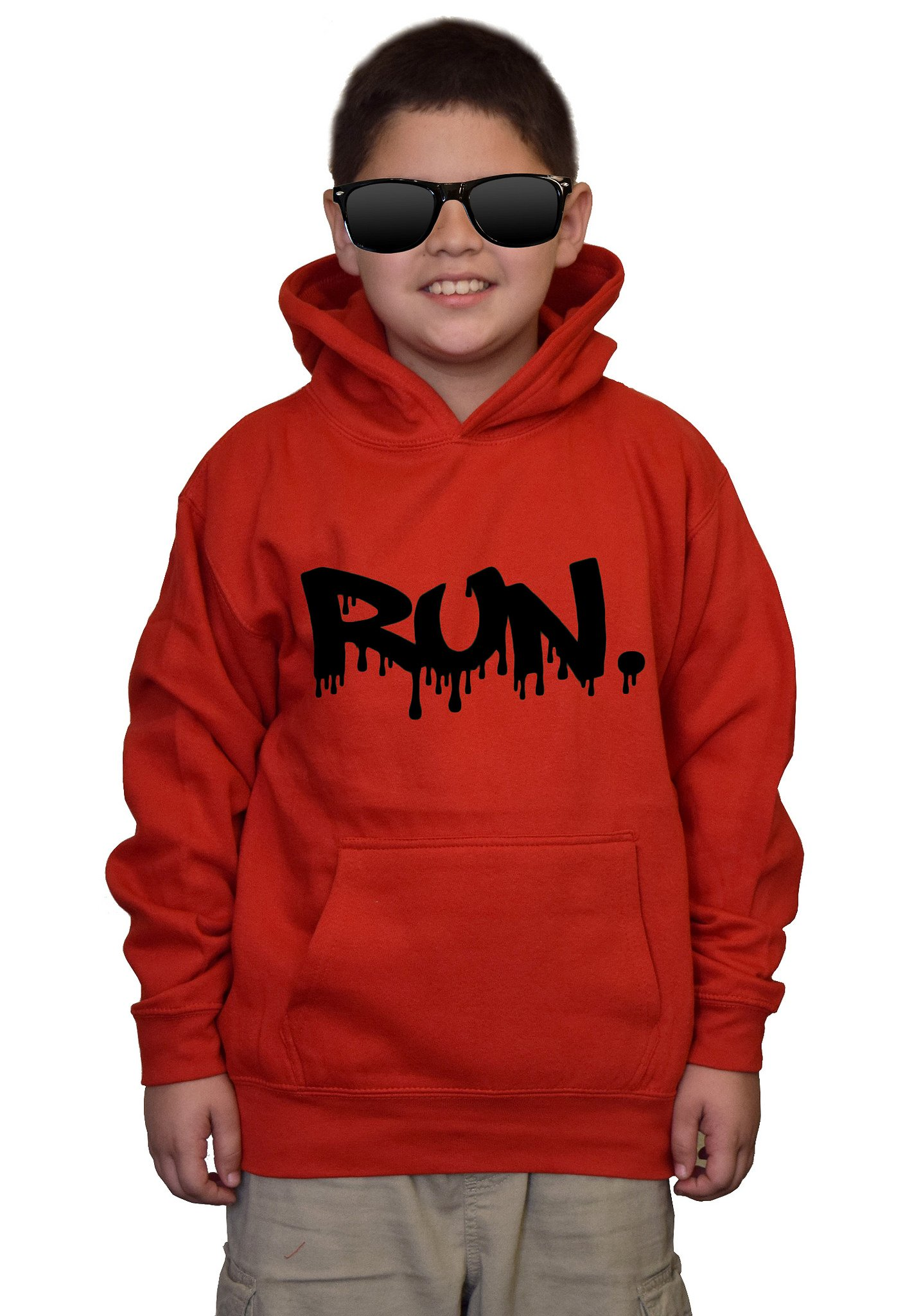 Youth Dripping Run V436 Red kids Sweatshirt Hoodie Small