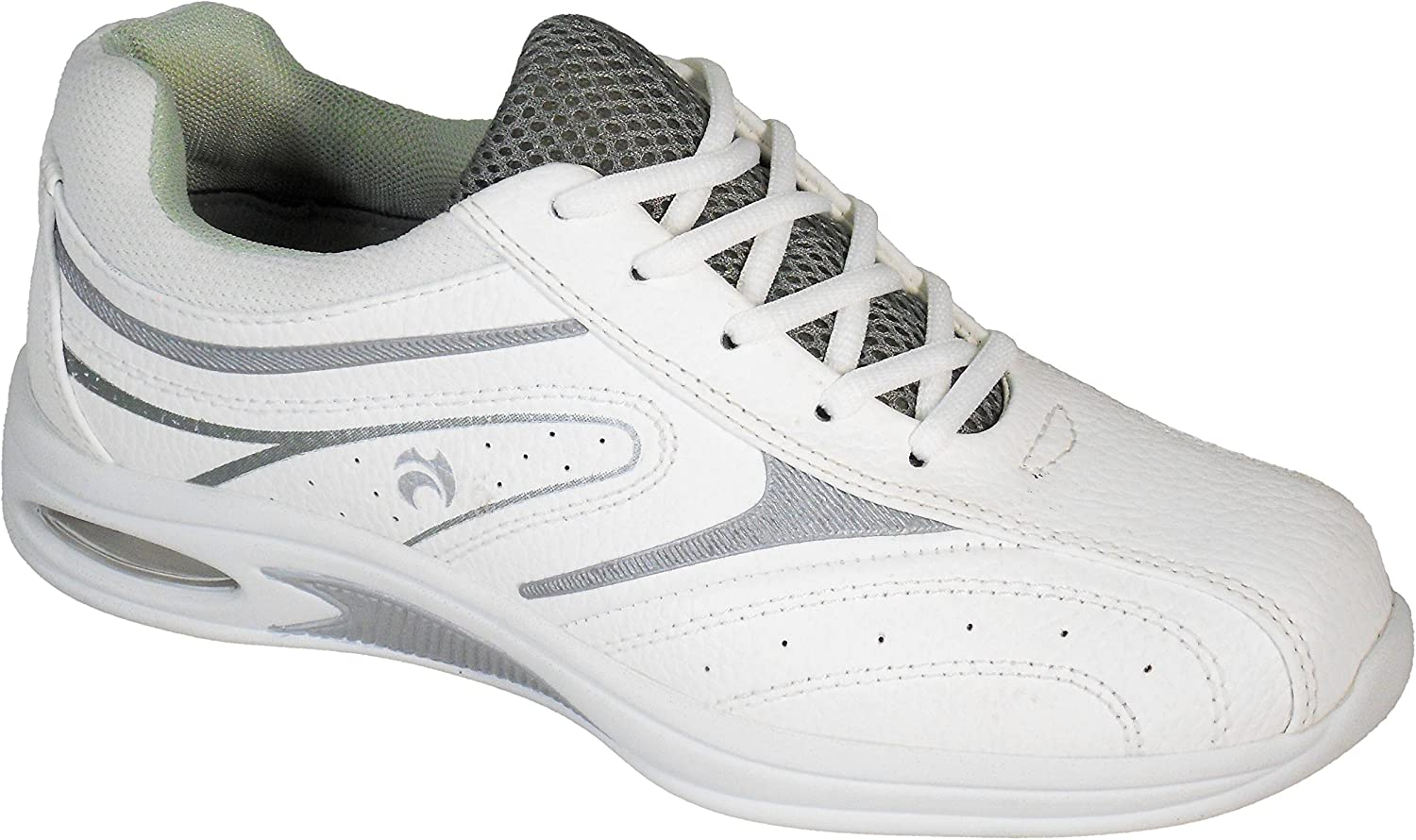 Henselite Ladies HL70 Ultra-Lightweight Lawn Bowling Shoes White//Lilac