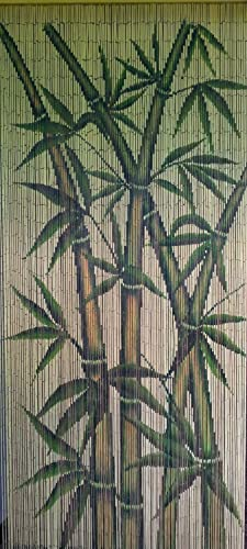 ABeadedCurtain 125 String Tropical Bamboo Stalks Beaded Curtain Handmade with 4000 Beads Hanging Hardware 38 More Strands and Beads