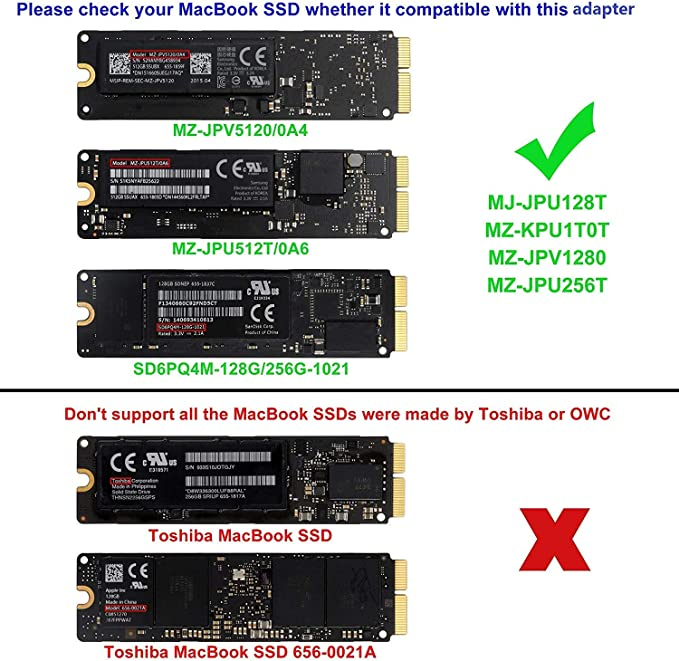 QNINE Tarjeta adaptadora PCIe SSD a M.2 Key M para 2013 2014 2015 ...