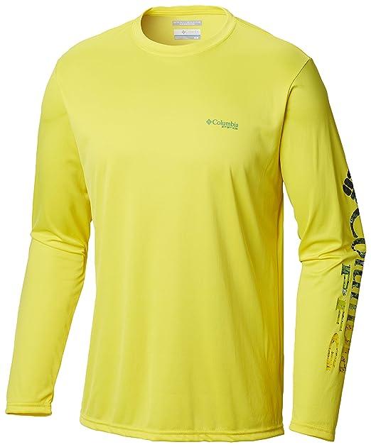 80392a36253 Columbia Men's Terminal Tackle Peg Sleeve Long Sleeve Shirt, Small,  Autzen/Dorado Digi