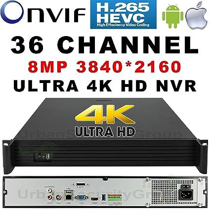 Amazon com : USG 8MP 36 Channel H 265 Ultra 4k IP Security NVR 8 2MP
