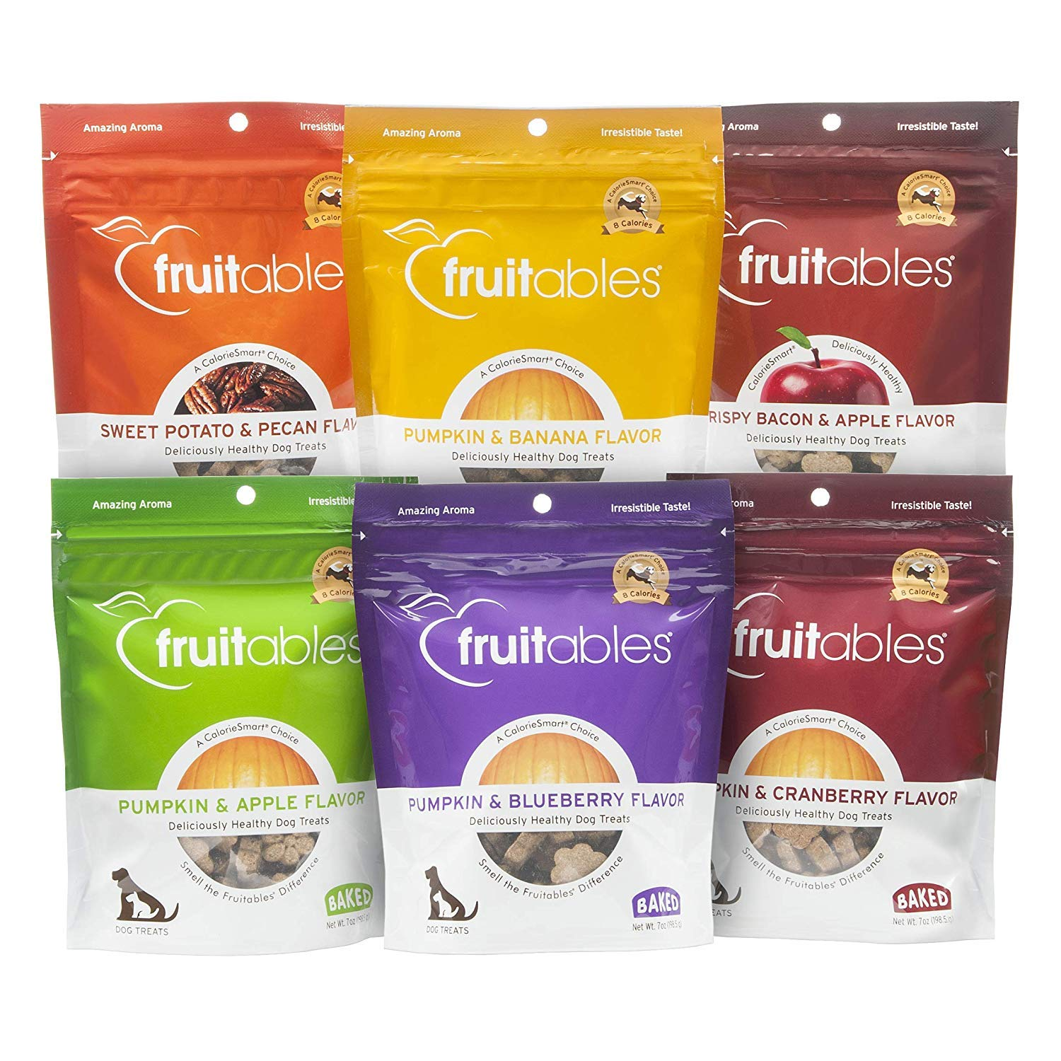Fruitables All Natural Baked Crunchy Dog Treats Variety Packs