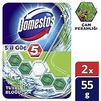 Domestos 5'li Güç Çam Ferahlığı Tuvalet Bloğu Duopack, 2 Adet