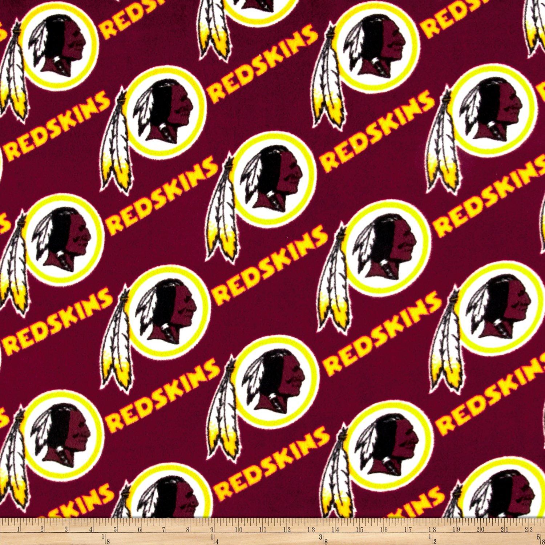 Fabric Traditions CK-168 NFL Fleece Washington Redskins Red/Gold Yard