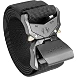 "JUKMO Tactical Belt, Military Hiking Rigger 1.5"" Nylon Web Work Belt with Heavy Duty Quick Release Buckle"