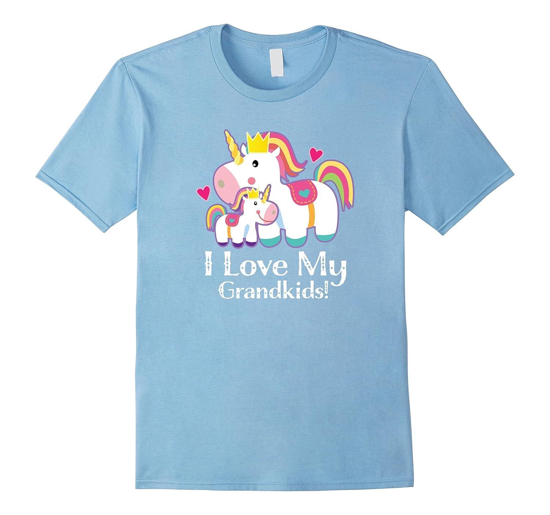 Grandma Unicorn T-shirt Mothers Day Gift I Love My Grandkids-TH