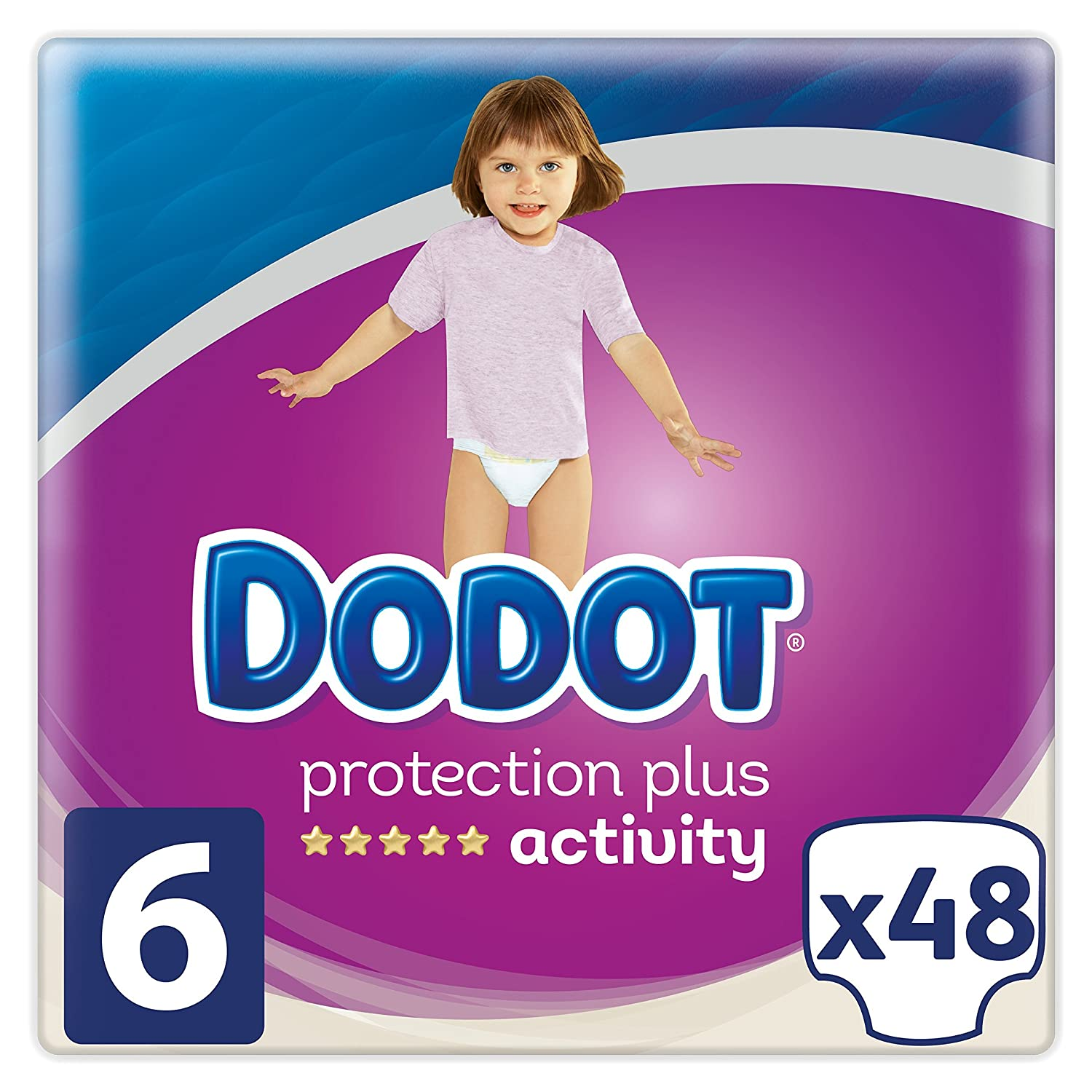 Dodot Pañales Protection Plus Activity, Talla 6, para Bebes de 13+ kg - 48 Pañales: Amazon.es: Belleza