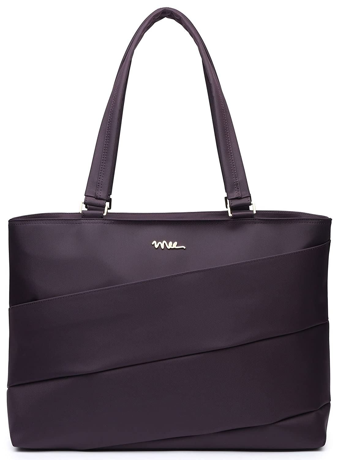 NNEE 15 15.6 Inch Water Resistance Nylon Laptop Tote Bag Notebook Computer Work Handbag Travel Carrying Bag Purple