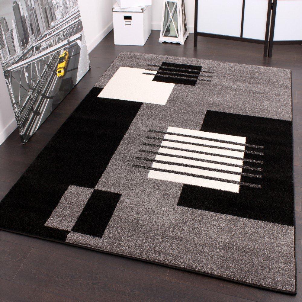alfombra de diseo a cuadros gris negro blanco a un super precio tamaox cm amazones hogar