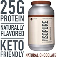 Isopure Naturally Flavored, Keto Friendly Chocolate Flavor Protein Powder