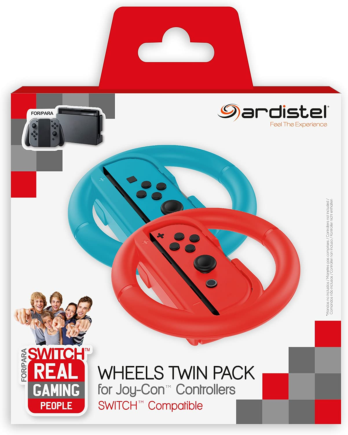 Ardistel - Pack De 2 Racing Wheels (Nintendo Switch): Amazon.es: Videojuegos