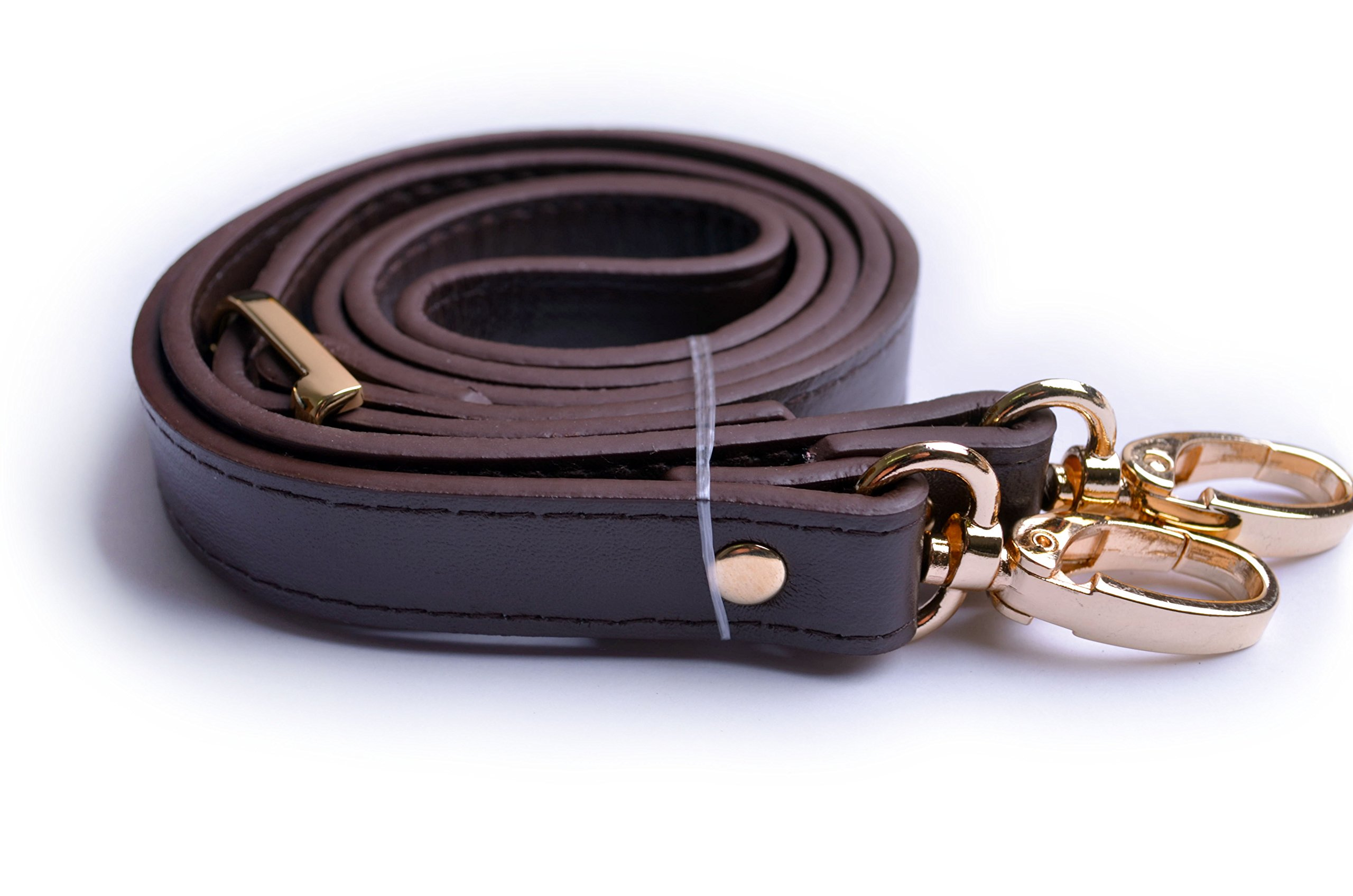 908a56d6a2 Wento 1pcs 43  -49   Dark Brown Faux Leather Adjustable Bag Strap
