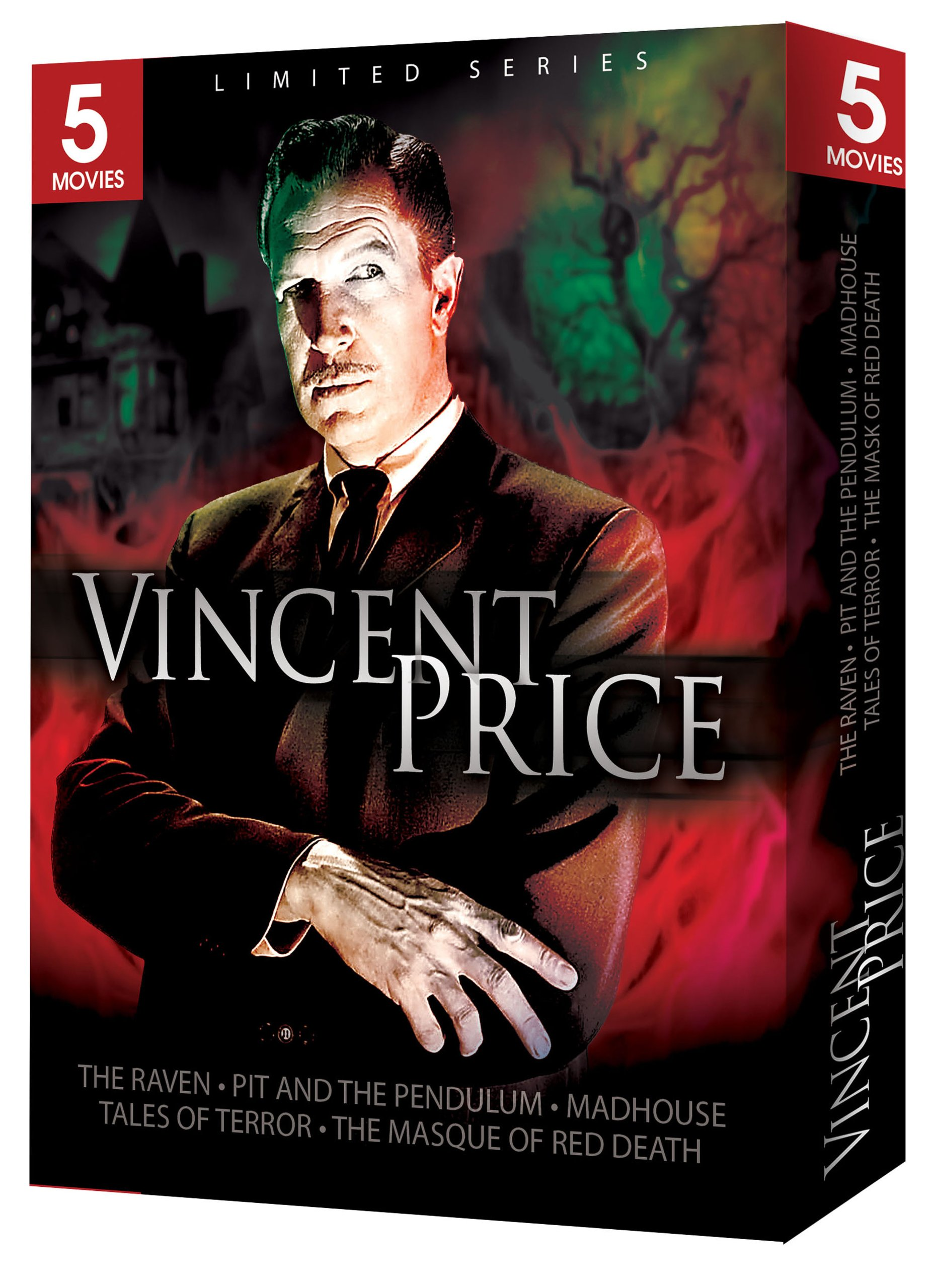 Vincent Price 5 Movie Gift Box: Limited Series (The Raven / The Pit and the Pendulum / Madhouse / Tales Of Terror / The Masque of the Red Death)