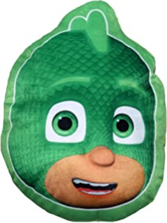 Pj Masks Soft Fur Shaped Pillow Cushion Gekko By BestTrend
