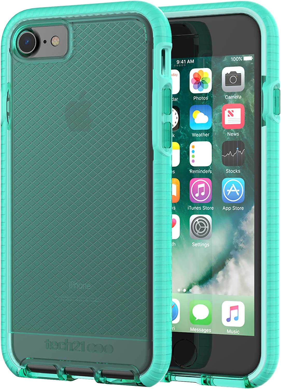 Tech21 Evo Check Case for Apple iPhone 7/8 - Aqua