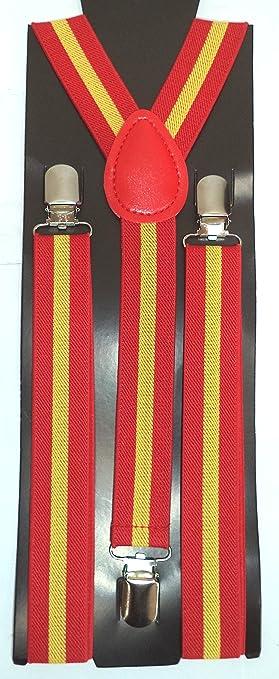 LIRIO Tirantes Bandera de España. Ajustables. Anchura: 25 mm.: Amazon.es: Ropa y accesorios
