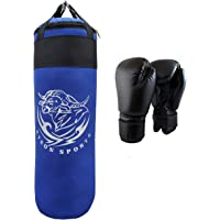Byson Strong and Rough (36 inch) Punching Bag with Boxing Gloves (Heavy Bag)