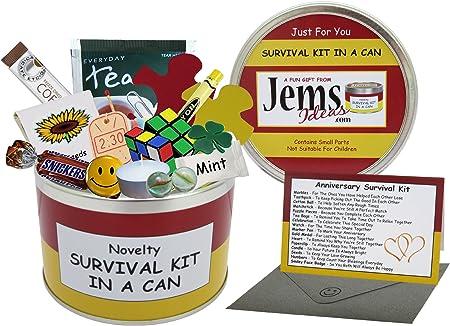 Kit de supervivencia en lata para aniversario,un regalo divertido ...
