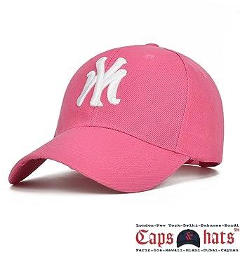 NY New York MLB  47 Snapback Cap (Pink)  Amazon.in  Clothing ... 5c5a1fcd4ea