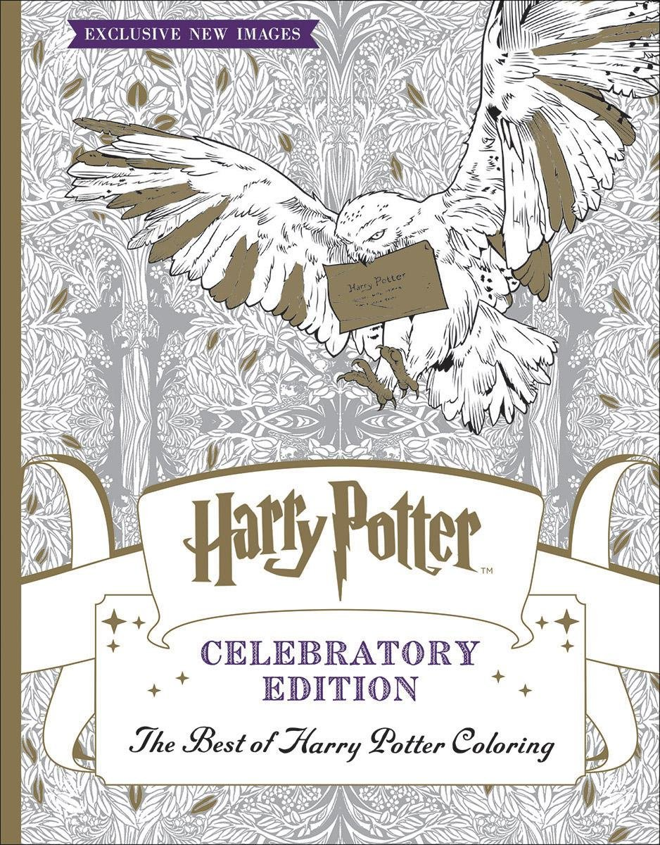The Best Of Harry Potter Coloring Celebratory Edition Scholastic 9781338166606 Amazon Books