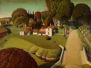 Doppelganger33LTD GRANT WOOD BIRTHPLACE OF HERBERT HOOVER ART PRINT POSTER PICTURE LF240