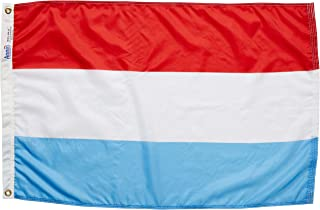 product image for Annin Flagmakers Model 195114 Luxembourg Flag Nylon SolarGuard NYL-Glo, 2x3 ft, 100% Made in USA to Official United Nations Design Specifications