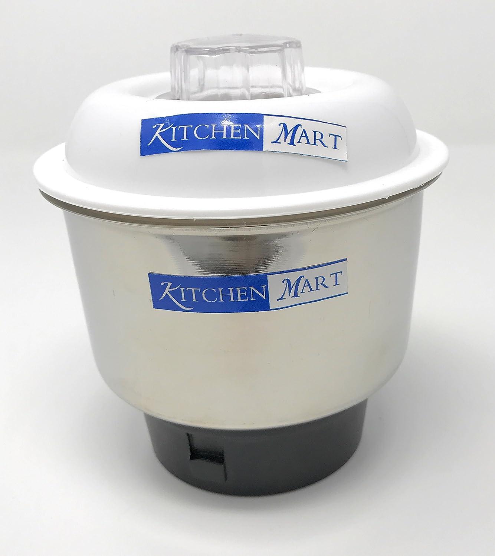 Kitchen Mart Stainless Steel Chutney Jar for Mixer Grinder (Silver)