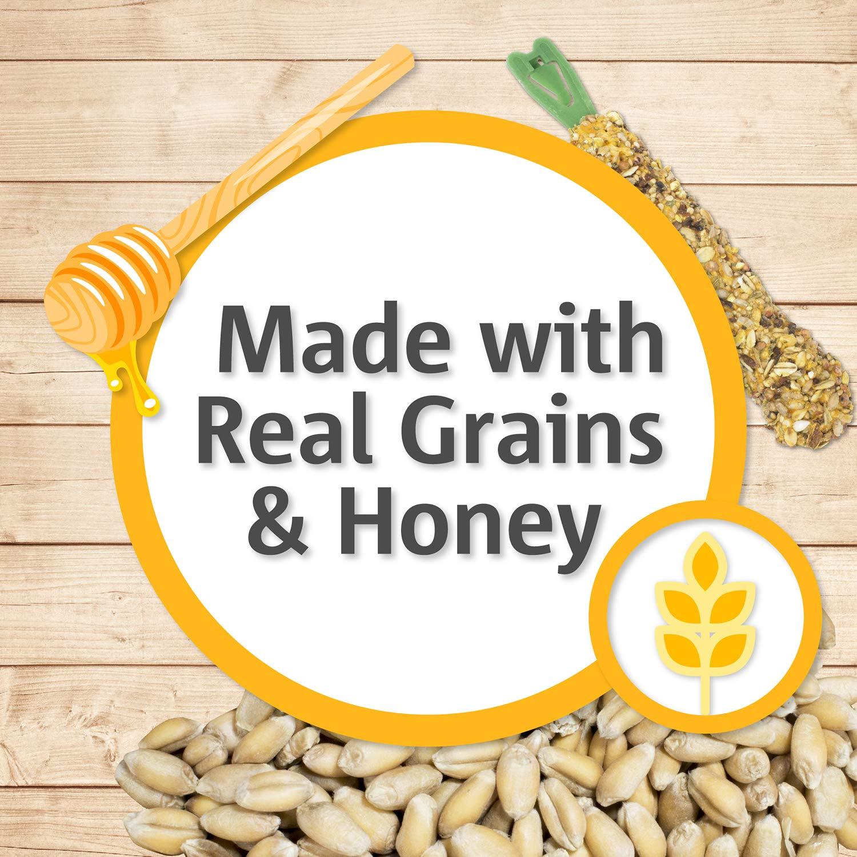 Vitakraft Hamster Whole Grains & Honey Treat Sticks Glazed With Yogurt 2 Pack, 3 Ounce