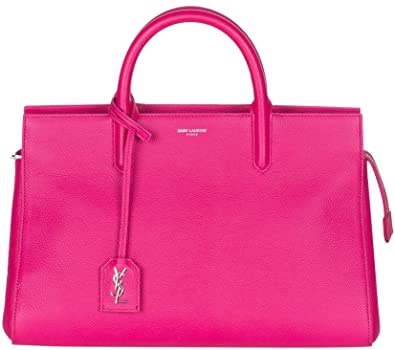 53cf80c2756 Image Unavailable. Image not available for. Color: Saint Laurent Fuchsia  Pink Leather Epson Satchel Bag