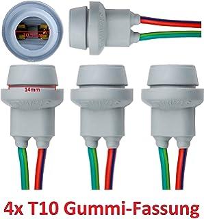 5D Bulb Holder Glass Socket for 1X9 Pack of 2 Intersale L/&P B571 W5W/W2 Rubber Light Bulb Socket Fittings