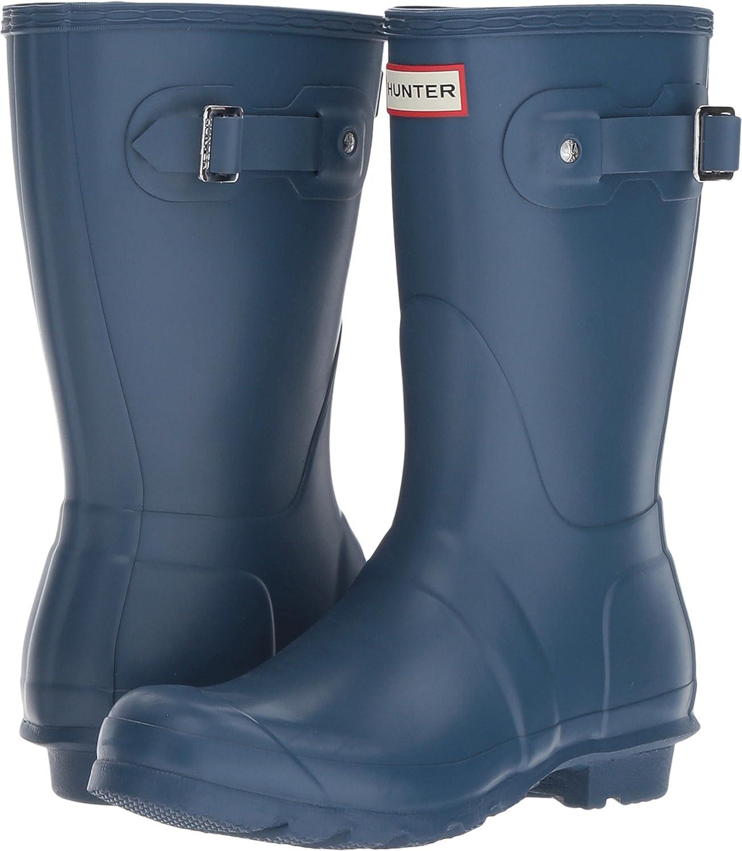 Hunter Women's Original Short Rain Boot B06ZXZHS7C 5 B(M) US Dark Earth Blue