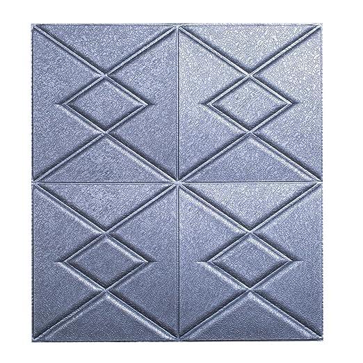 JiaMeng PE Espuma 3D Wallpaper DIY Wall Stickers en Relieve de Piedra de ladrillo en Relieve Pegatinas: Amazon.es: Hogar
