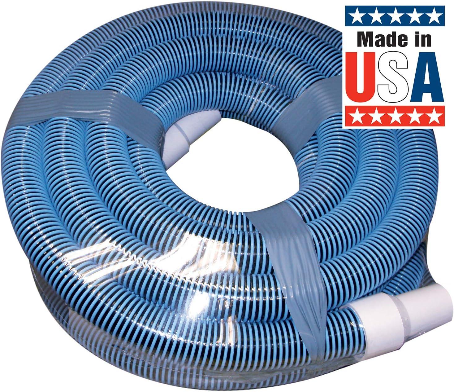Poolmaster 33445 Heavy Duty In-Ground Pool Vacuum Hose With Swivel Cuff, 1-1/2-Inch by 45-Feet,Neutral