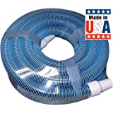 Poolmaster 33430 Heavy Duty In-Ground Pool Vacuum Hose With Swivel Cuff, 1-1/2-Inch by 30-Feet,Neutral