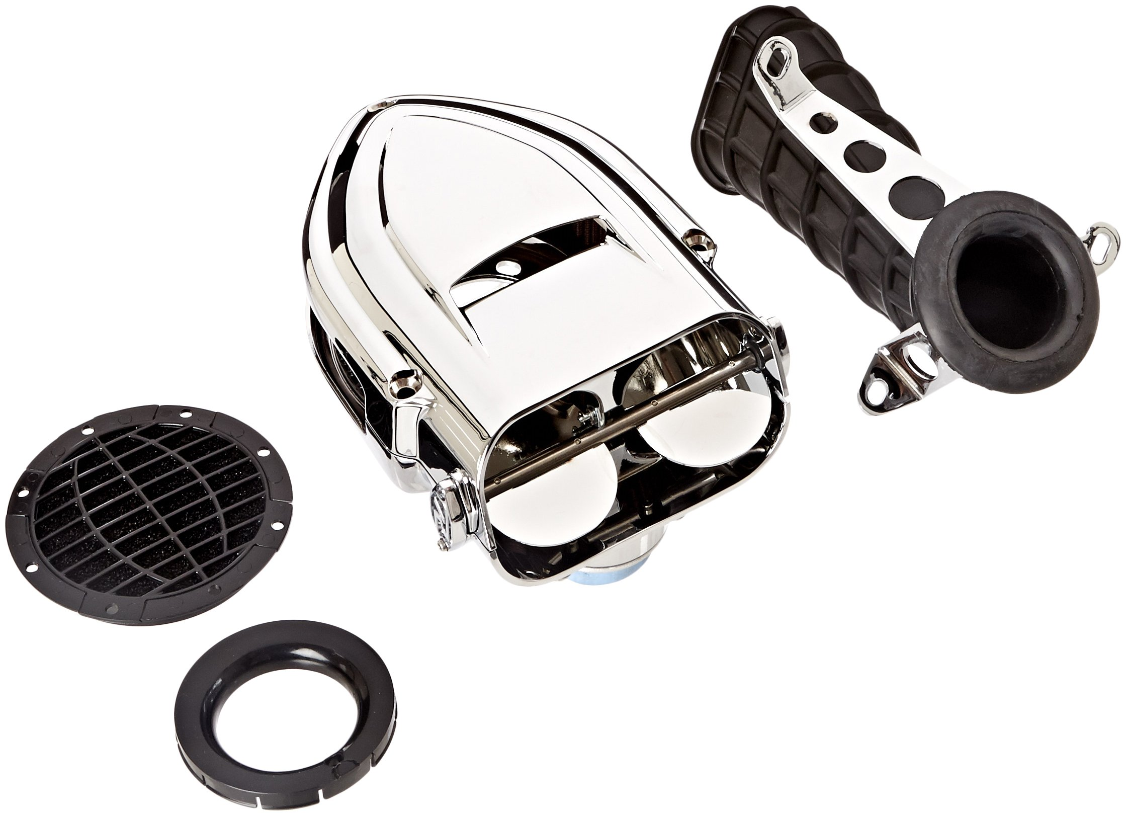 Kuryakyn 9463 Pro-R Hypercharger Air Cleaner/Filter for Metric Cruisers: 1999-2009 Yamaha V Star 1100 Motorcycles, Chrome by Kuryakyn (Image #1)
