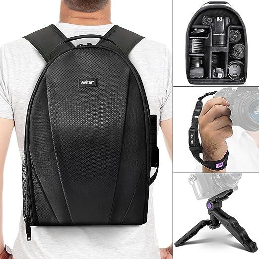 Vivitar mochila para cámara réflex digital, objetivo y accesorios ...