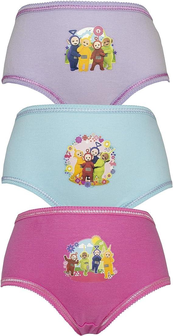 TDP Girls Teletubbies 6 Pairs Briefs Childrens Underwear 2-3 Years 100/% Cotton