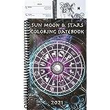 2021 Sun Moon & Stars Coloring Datebook