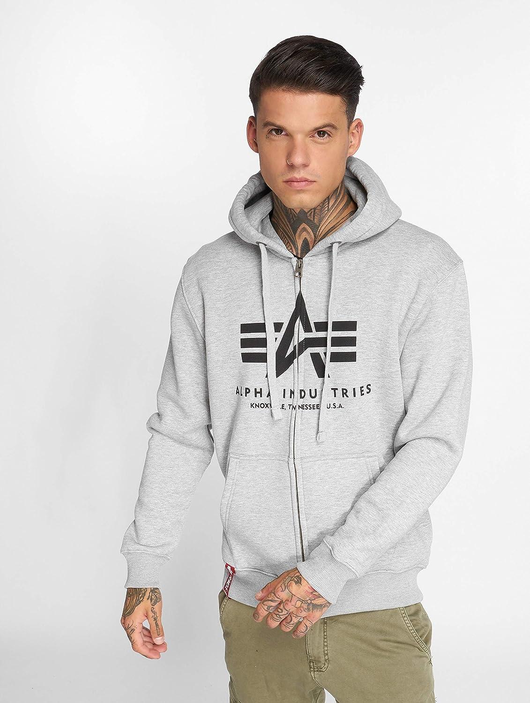 ALPHA INDUSTRIES Men Overwear/Zip Hoodie Basic Grey - 496942