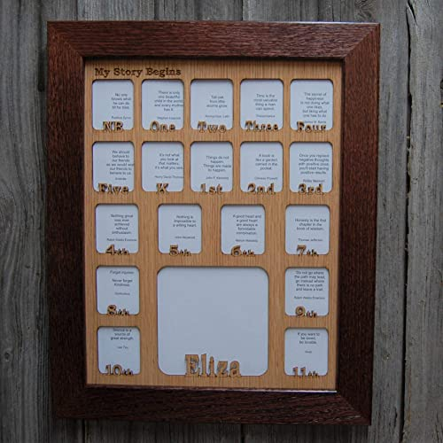 Amazoncom 12x16 Personalized School Years Picture Frame Birth